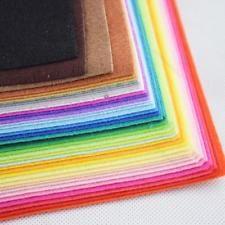 40 Colors Felt Sheets DIY Craft Supplies #R Polyester Fabric 15-30cm