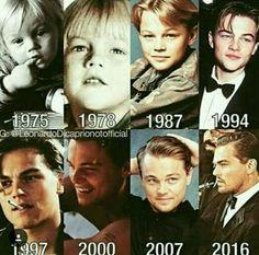 Através dos anos de cronograma de Leonardo DiCaprio 1975-2016 - / Through the years of Leonardo DiCaprio's timeline 1975-2016 -