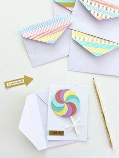Envelope Dressing With Washi Tape Pinterest And Envelopes