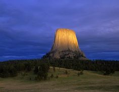 Devils Tower, the United States first natural monument