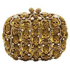 ☠ Swarovski Crystal Multi Skull Clutch Bag ☠