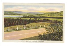 Hey, I found this really awesome Etsy listing at https://www.etsy.com/listing/201789153/portage-wisconsin-vintage-postcard