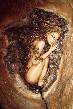 Dryad Sculpture by A Driftwood Dream.