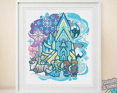 Merida Cross Stitch Modern Cross Stitch Disney Princess