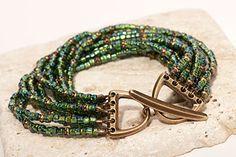 Lush Verde Bracelet - With TierraCast Clasp