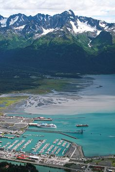 Looking down on the town of Seward, Alaska...