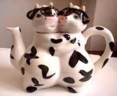 Cow Ornaments, Mini Cows, Cow Decor, Cow Art, Tea Cozy, Kettles, Cozies, Tea Cakes, Tea Sets