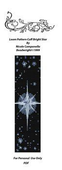 Loom Beading Bright Star by Nicole/Beadwright - Member Free Beading Project on Beading Daily