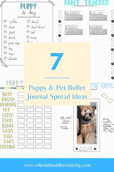When I Should Be Studying: Puppy and Pet Bullet Journal Planner Spread Ideas