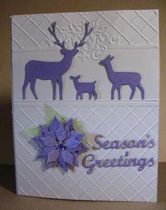 Memory Box die cuts, deer die, poinsettia, holiday greetings