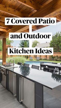 Covered Outdoor Kitchens, Outdoor Kitchen Patio, Small Backyard Patio, Small Backyard Design, Backyard Patio Designs, Outdoor Kitchen Design, Backyard Ideas, Porch Ideas, Patio Ideas