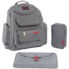 Bag Nation Diaper Bag Backpack with Stroller Straps, Changing Pad and Sundry Bag - Grey of 5 stars by in Baby > Diapering > Diaper Bags > Travel Gear Best Backpack Diaper Bag, Girl Diaper Bag, Buy Backpack, Baby Diaper Bags, Diaper Bag Brands, Bag Women, Buy Bags, Baby Supplies, Cool Backpacks