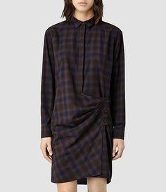 Womens Irma Shirt Dress (Neri) | ALLSAINTS.com
