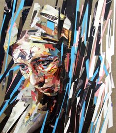 Extraordinary Collage Art from Paper Strips - Patrick Bremer, Brighton
