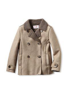 Il Gufo Kid's Double-Breasted Coat