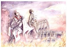 Assassin's Creed _ Wind by kandasama on DeviantArt Assassins Creed 1, Deviantart, Drawings, Traditional, Color, Colour, Sketches, Drawing, Portrait