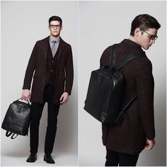 #EnricoCoveri new leather backpack. Fall\Winter 2016\17 collection. #coveri #backpack #menswear #madeinitaly #Milan #models