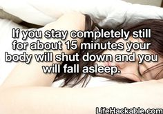 Sleep hack omg YUS the past couple nights I have had the toughest time falling asleep this will be handy!!