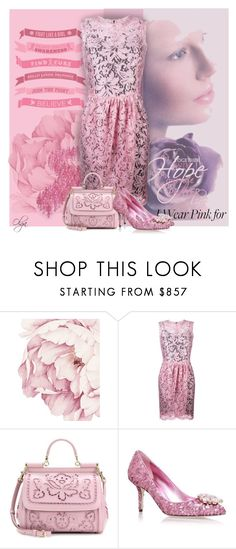 """""""Pink for Awareness"""" by olga1402 on Polyvore featuring Dolce&Gabbana and breastcancerawareness"""