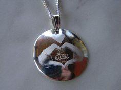 Äiti/nimi-riipus Washer Necklace, Pendant Necklace, Jewelry, Jewlery, Jewerly, Schmuck, Jewels, Jewelery, Drop Necklace