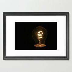 Light Bulb Moments  Framed Art Print