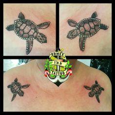 Domex ink Tattoo Schultern Schildkröten