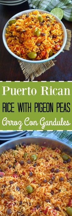 Rice with Pigeon Peas { Arroz Con Gandules } pinterest