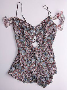 8cf8c796279 BNWT-Victorias-Secret-Designer-Collection-pure-silk-romper -paisley-lingerie-S