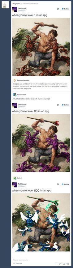 RPG leveling