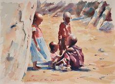 (11) Facebook Watercolour Paintings, Watercolor Sketch, Watercolor Portraits, Watercolors, Fine Art Photo, Photo Art, Anubis Drawing, African American Art, People Art