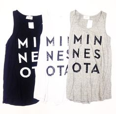 Minnesota Tanks $28. Local Love. @ Primp Boutique