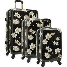 Vince Camuto Luggage Corinn 3 Piece Expandable Hardside Luggage Set NEW Best Carry On Luggage, Cute Luggage, Travel Luggage, Travel Bags, Luggage Store, Luggage Bags, Vince Camuto, Cute Suitcases, Hardside Spinner Luggage