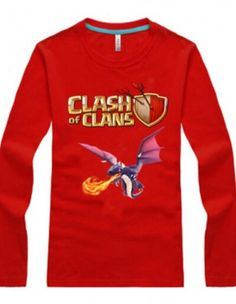 83a6ed211 Clash of Clans long sleeve t shirt Dragon tee