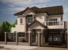 Planning to build your own house? Check out the photos of these beautiful 2 storey houses.This article is filed under: Small Cottage Designs, Small Home Design, Small House Design Plans, Small House Design Inside, Small House Architecture Two Story House Design, 2 Storey House Design, Small House Design, Modern House Design, 3 Storey House, Bungalow Haus Design, Modern Bungalow House, Modern Houses, Style At Home
