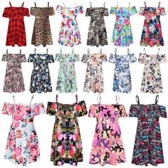KIDS GIRLS CAT PRINT MULTI COLOURS LEGGING SKATER MIDI DRESS CROP TOP 7-13 YEARS