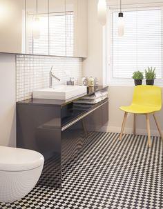 Un sol de salle de bains psychédélique - Salle de bains : 15 sols qui font la…