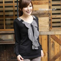 Buy 'TANGYIZI – Long-Sleeve Striped Bow-Accent Top' with Free International Shipping at YesStyle.com. Browse and shop for thousands of Asian fashion items from Taiwan and more!
