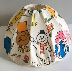 """#80s ceiling shade """"MR MEN"""" I remember these being about."""