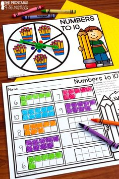Kindergarten math centers made EASY! EASY to prep and plan, interactive, meaningful, and FUN! With 50 center activities included, you'll find a wide variety of Kindergarten skills - numbers to 5, 10, and 20, shapes, patterns, making 5, making 10, counting, ten frames, addition, subtraction, and MORE! Directions for each center stay the same – explain once, and your students will know what to do every time. No themes included in this packet, so the activities are perfect year-round.