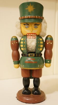 Hand painted Vintage German Nutcracker / Classic by teakandteal