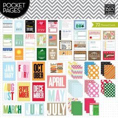 Themed Cards -  Months of the Year - POCKET PAGES™ journaling cards