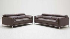 Eaton Sofa and Loveseat Set - Light Brown #ZuriFurniture