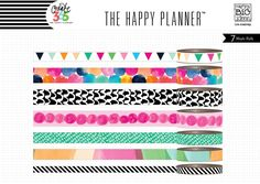 "THE HAPPY PLANNER - ""WATERCOLOR"" WASHI TAPE - by me & my BIG ideas"