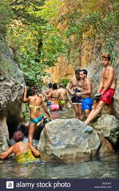 Searching for the big waterfall, Katarraktes canyon, Potami, Karlovasi, Samos island, Greece. #Greece #Greek #Samos #island #Potami #Karlovasi #Katarraktes #canyon #gorge #Mediterranean #North #Aegean #sea #canyons #gorges #islands #people #young #boys #girls #hike #hiking #trek #trekking #canyoning #adventure #adventurous #rivers #nature #natural #landscape #landscapes #scenic #scenery #beautiful #colorful #travel #destinations #sights #sightseeing #attractions #summer #holidays #vacations Samos, Take Better Photos, Photo Search, Young Boys, Greek Islands, Trekking, Cool Photos, Travel Destinations, Greece