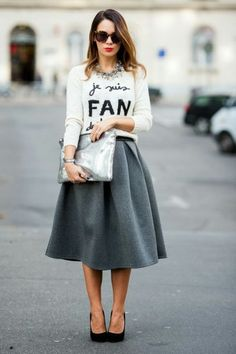 30 Stylish Fall Outfits For Women Modest Fashion, Fashion Outfits, Womens Fashion, Skirt Fashion, Look Fashion, Autumn Fashion, Street Fashion, Nail Fashion, Party Fashion