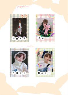 Printable Stickers, Cute Stickers, Kpop Diy, Bts Playlist, Bts Polaroid, Bts Aesthetic Pictures, Hoseok Bts, Bts J Hope, Kpop Aesthetic
