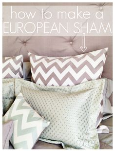"""I used to working in a bedding department at the mall in high school and I discovered what was called a """"European pillow"""". I've never head of such a thing back then, but loved how they looked on the display beds we had to make. During this bedroom makeover competition I knew I wanted …"""