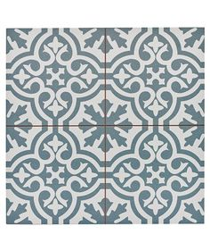 Capturing the artisanal look of cement tile, the Merola Tile Berkeley Blue Encaustic in. Ceramic Floor and Wall Tile offers an encaustic, old-world design that can blend into any decor. Bathroom Floor Tiles, Tile Floor, Modern Bathroom, Floor Tiles Hallway, Green Bathrooms, Hall Tiles, Slate Bathroom, Entry Tile, Dyi Bathroom