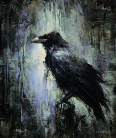 lindsey kustusch I love this painting of a crow or Raven! Crow Art, Raven Art, Bird Art, Crow Painting, Encaustic Painting, Desenho Tattoo, Painting Inspiration, Amazing Art, Awesome