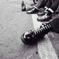 Traditional skinhead girl from Russia Skinhead Men, Skinhead Boots, Dr. Martens, Dr Martens Boots, Men's Shoes, Shoe Boots, Luanna, Young At Heart, Black And White Photography